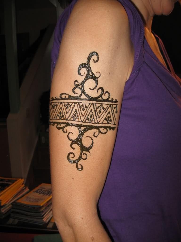 right sleeve henna armband tattoo. Black Bedroom Furniture Sets. Home Design Ideas