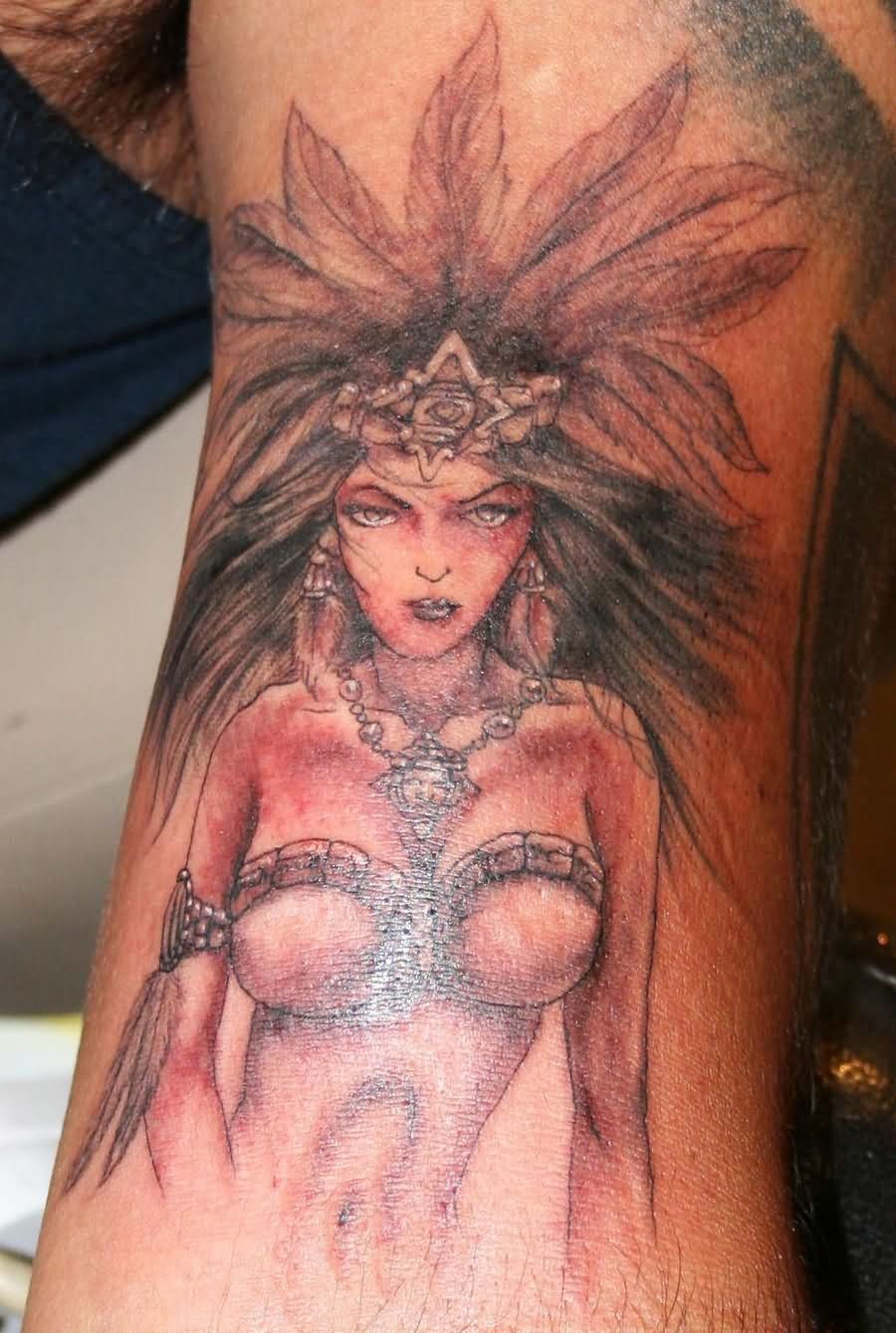 Mayan warrior princess tattoo
