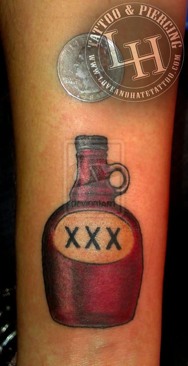bottle tattoo images designs. Black Bedroom Furniture Sets. Home Design Ideas