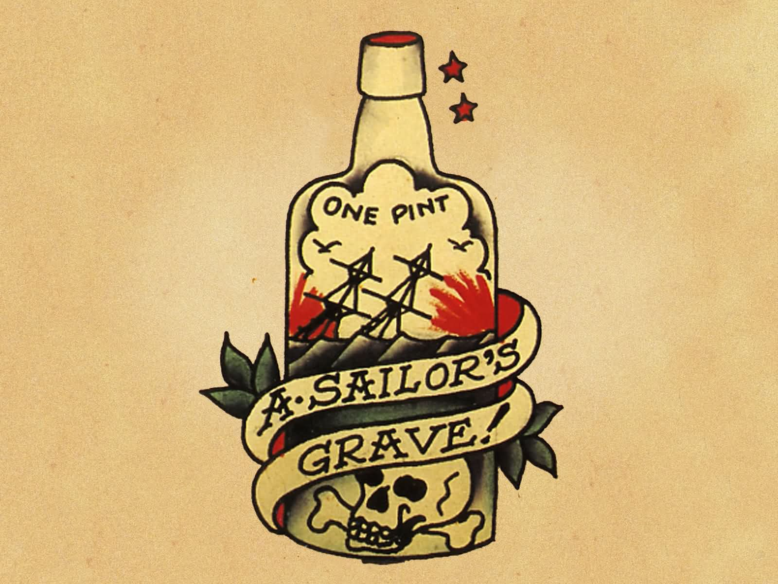 Sailor Grave Old School Design