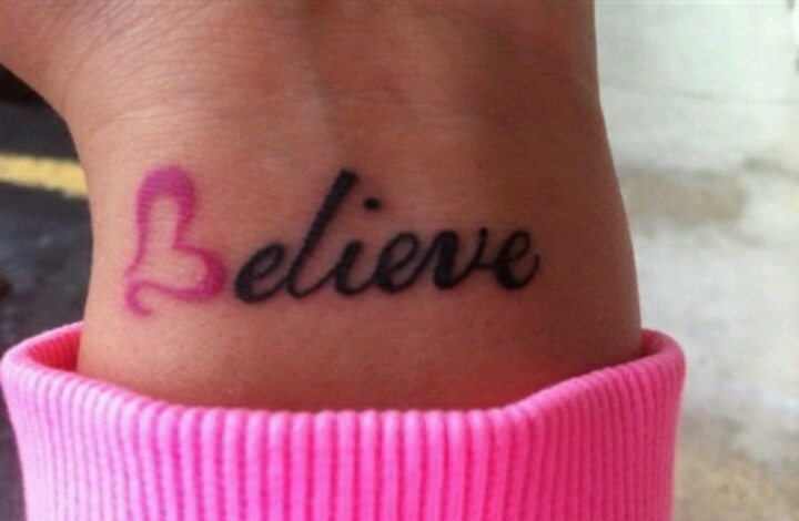 04811ee2d amazing Breast Cancer Cancer Tattoo On Wrist