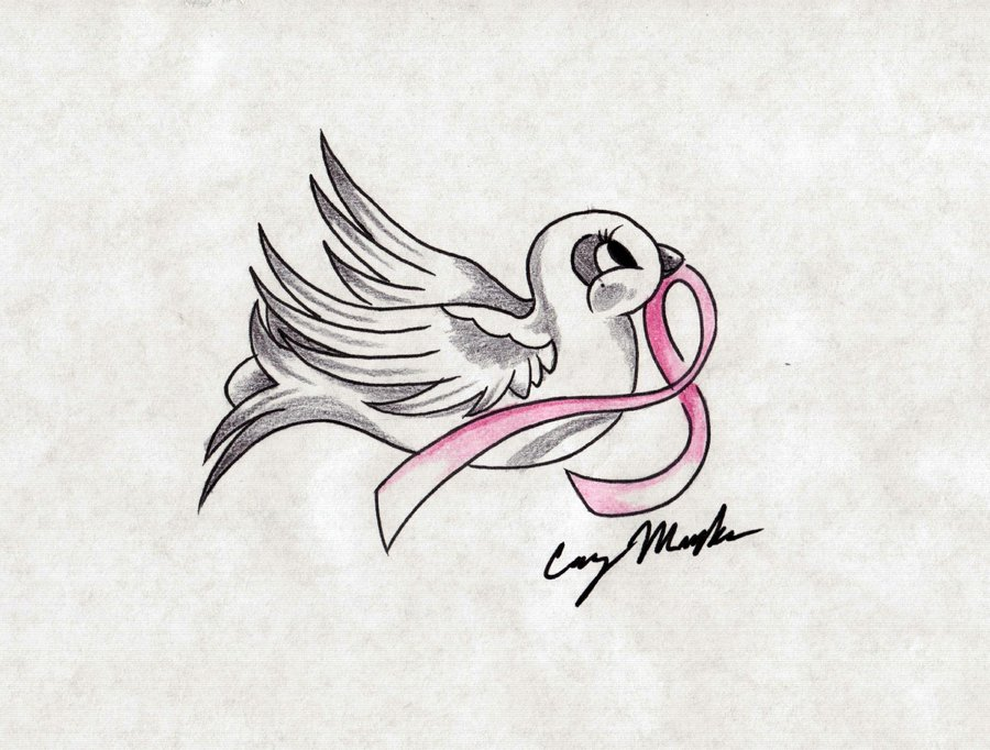 Dove tattoo on your breast