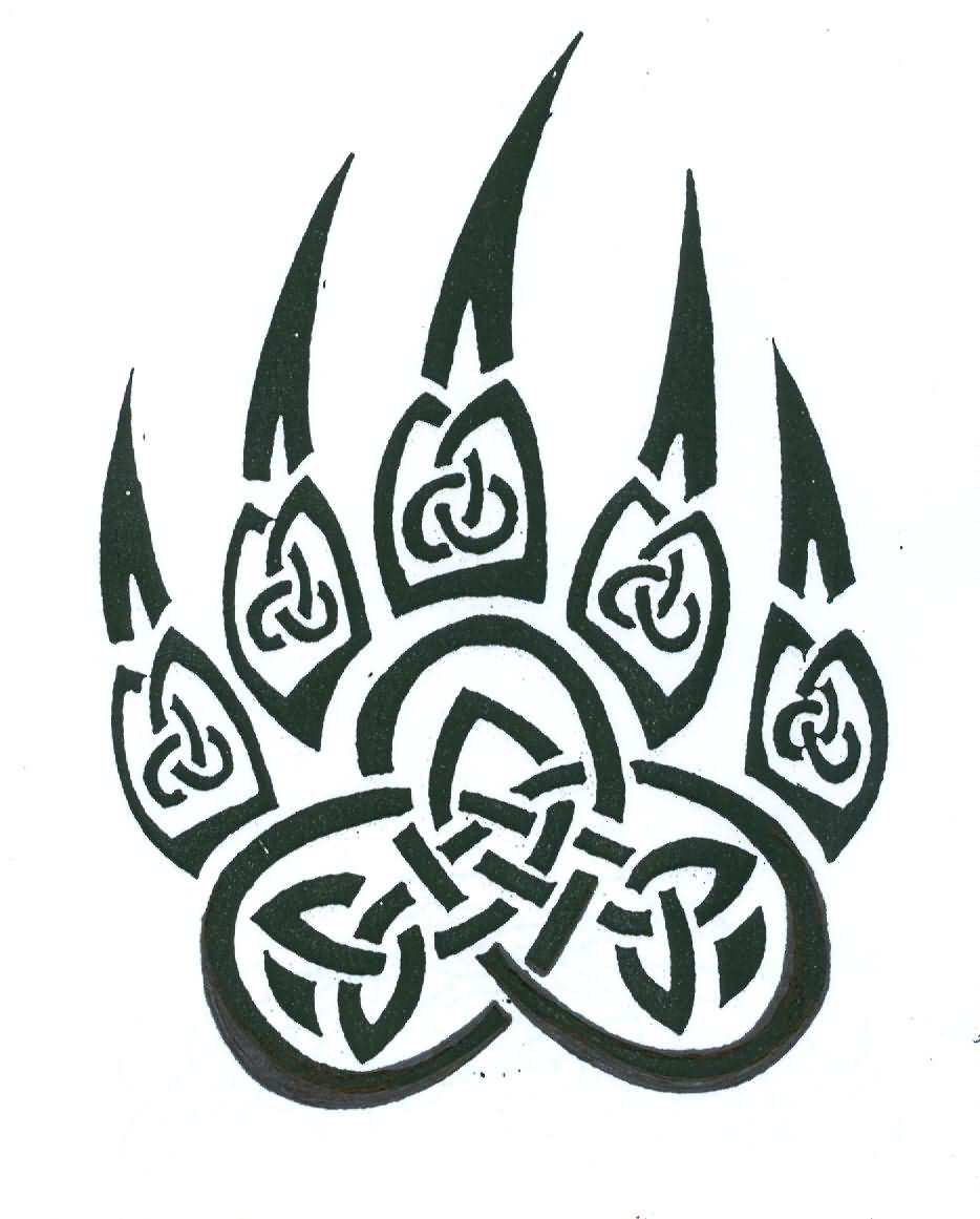 Celtic Bear Claw Tattoo Design