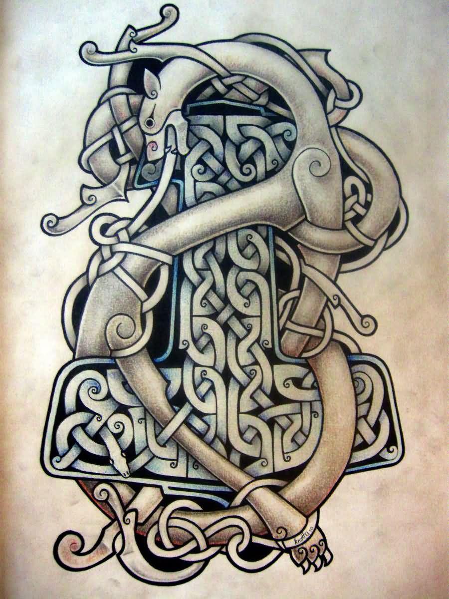 Celtic warrior tattoos design for Celtic frog tattoo designs