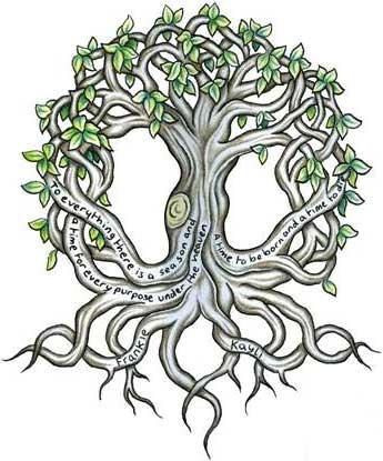 cool celtic tree design