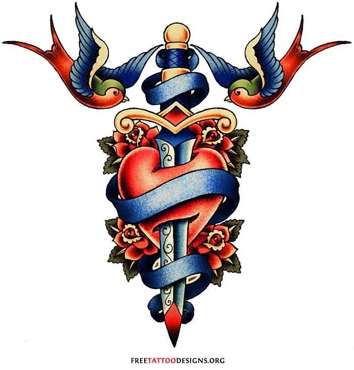 Dagger Tattoo Images &amp Designs