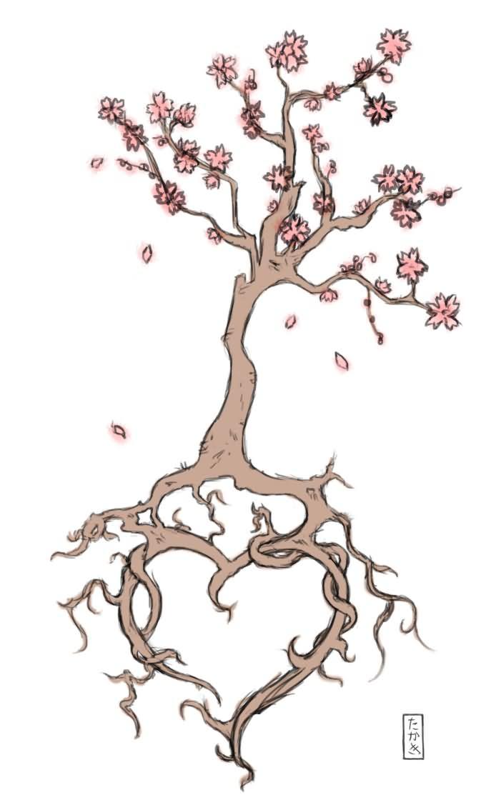 cherry blossom tattoo images designs. Black Bedroom Furniture Sets. Home Design Ideas