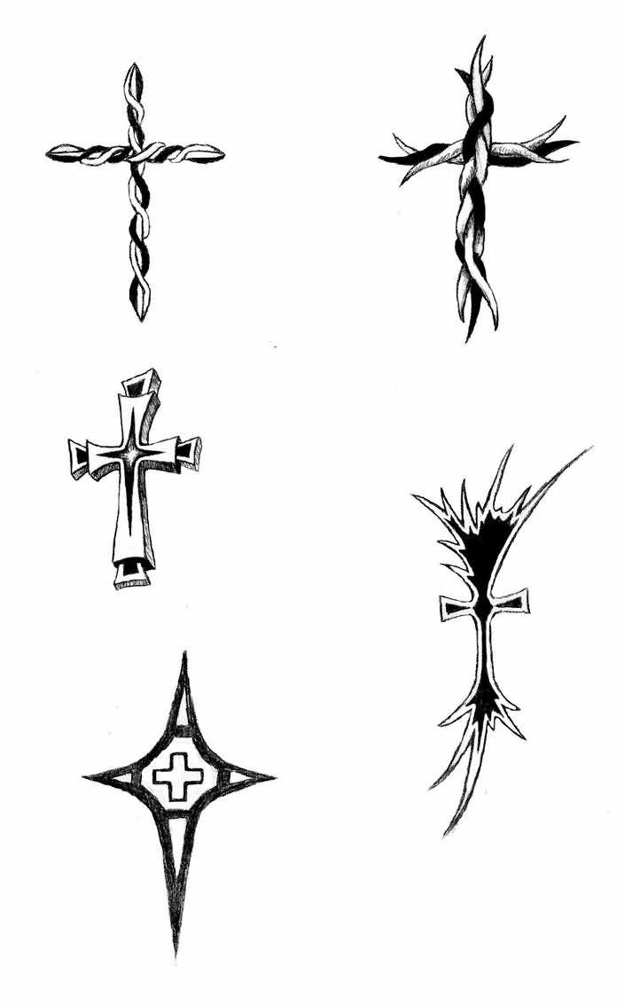 Tribal-Tattoos small-tribal-cross-tattoos-design