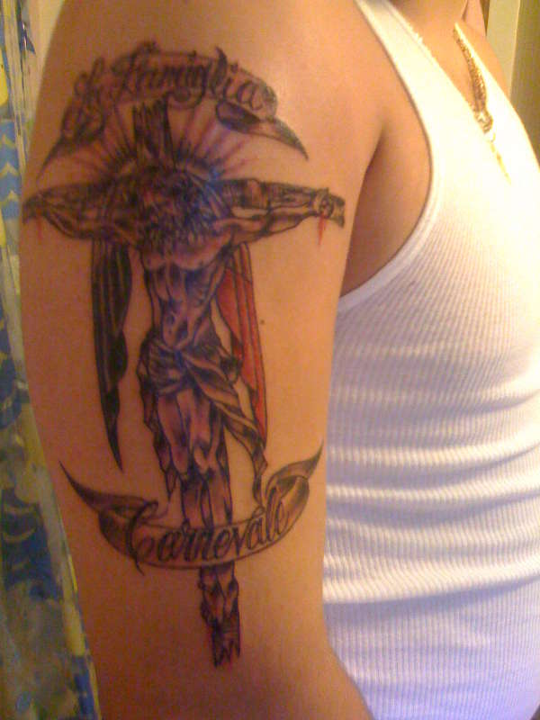 Interesting cross tattoo design ideas