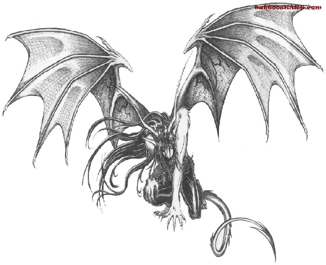 [Aventura]: Os Escolhidos - Página 37 Flying-demon-tattoo-design