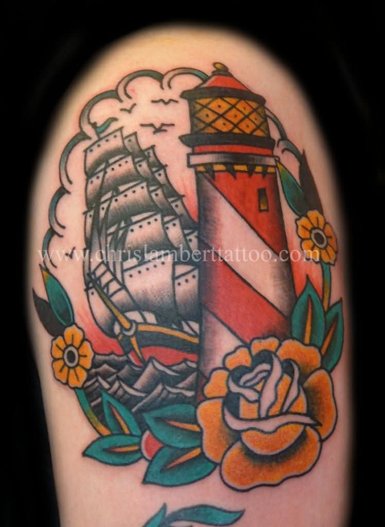 Lighthouse American Traditional Tattoo: Lighthouse Tattoo Images & Designs