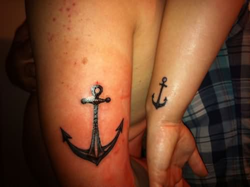 Couple tattoo images designs for Anchor tattoos for couples