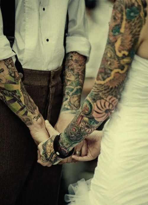 Couple Arm Sleeve Tattoo