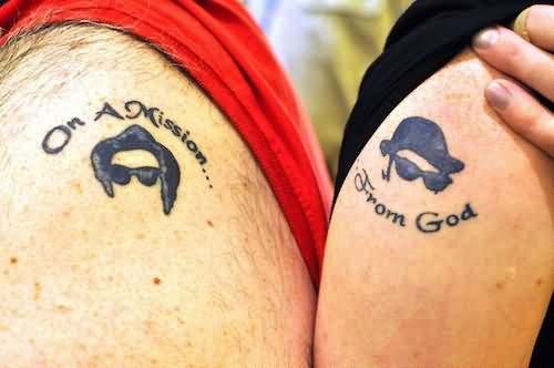 Shoulder Cute Couple Tattoo