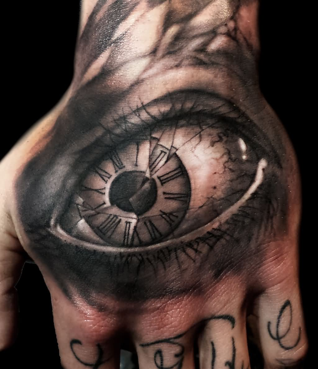 Glass tattoo images designs for Eye finger tattoo