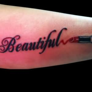 Lipstick Tattoo Images & Designs