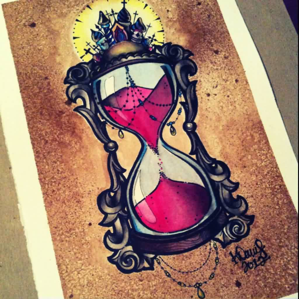 Tattoo Designs Time: Glass Tattoo Images & Designs