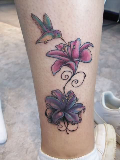 Lily tattoo images designs for Hummingbird hip tattoo