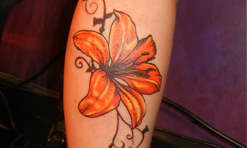 Lily tattoo images designs for Tiger lilly tattoos