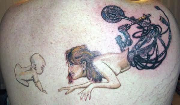 Mermaid Mom Tattoo Baby And Mermaid Mother Tattoo