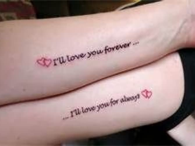 Moon And Stars Daughter And Mother Tattoos On Wrists