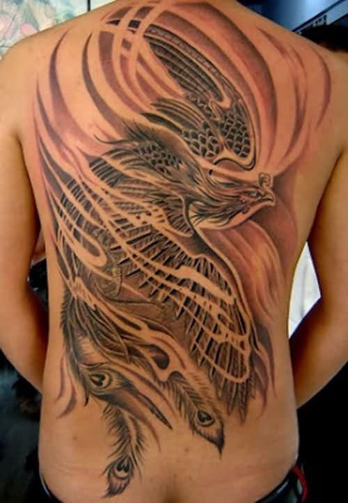 Phoenix Back Body Tattoo
