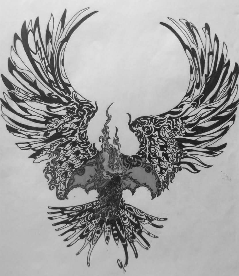 Astounding Best Open Wings Phoenix Tattoo Design Download Free Architecture Designs Licukmadebymaigaardcom