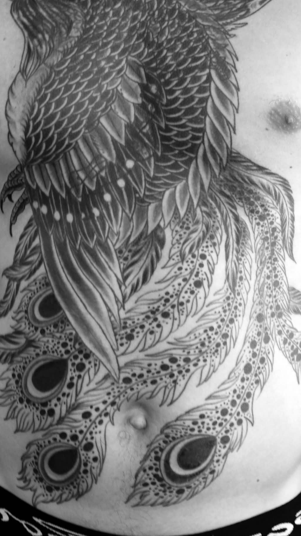 Phoenix tattoo images designs for Tattoo design black and gray