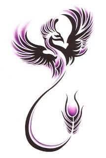 Classic Tribal Phoenix Tattoo Design