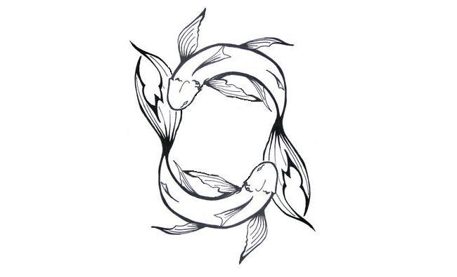 Tiny Pisces Tattoo Design