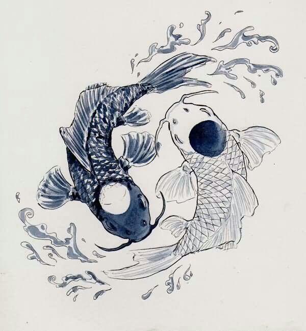 Unique Pisces Zodiac Sign Tattoo Design