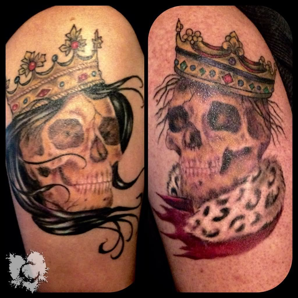 Queen crown tattoos tribal