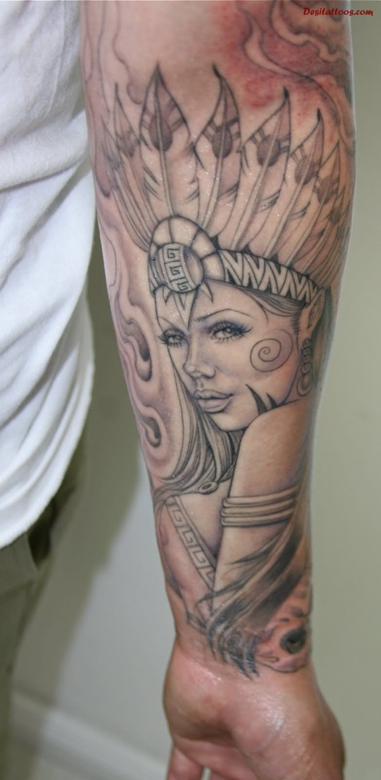 Left Forearm Jaw Dropping Egyptian Queen Tattoo