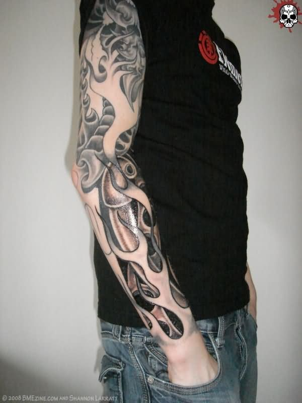Sleeve tattoo images designs for Tribal flames tattoo