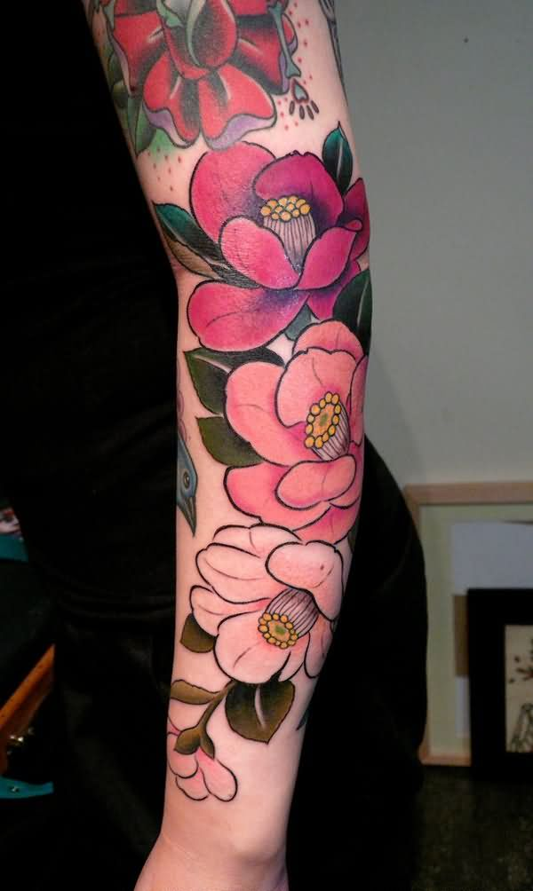 Sleeve tattoo images designs for Tattoo sleeve ideas girl