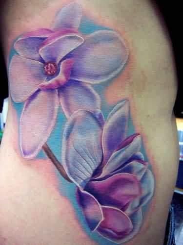 flower tattoos on side designs. Black Bedroom Furniture Sets. Home Design Ideas