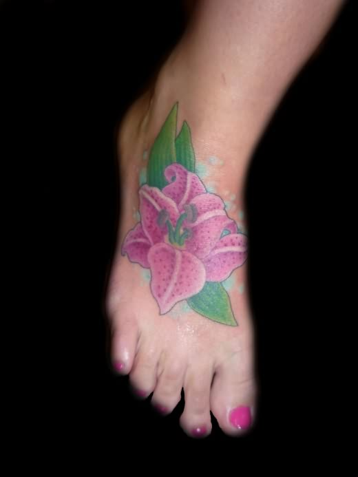 girls foot flower tattoo latest design. Black Bedroom Furniture Sets. Home Design Ideas