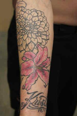 Hibiscus Flower Tattoos On Shoulder