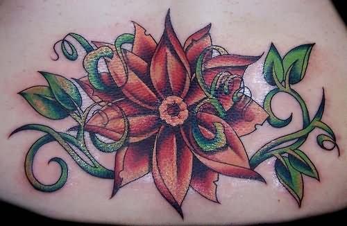 Lotus flower lower back tattoo mightylinksfo