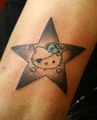 Star flower tattoo on arm for Star and flower tattoos
