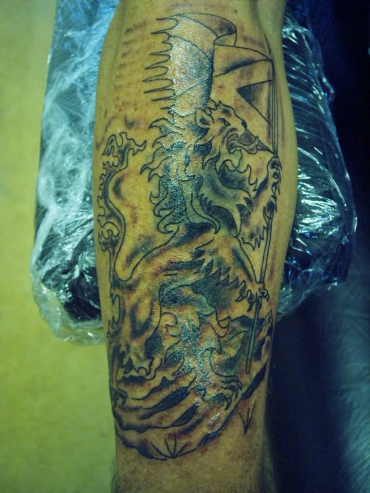 Griffin Arm Tattoo