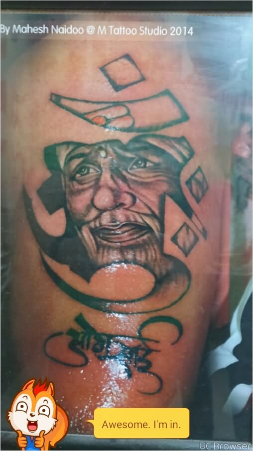 Om Sai Tattoo Design