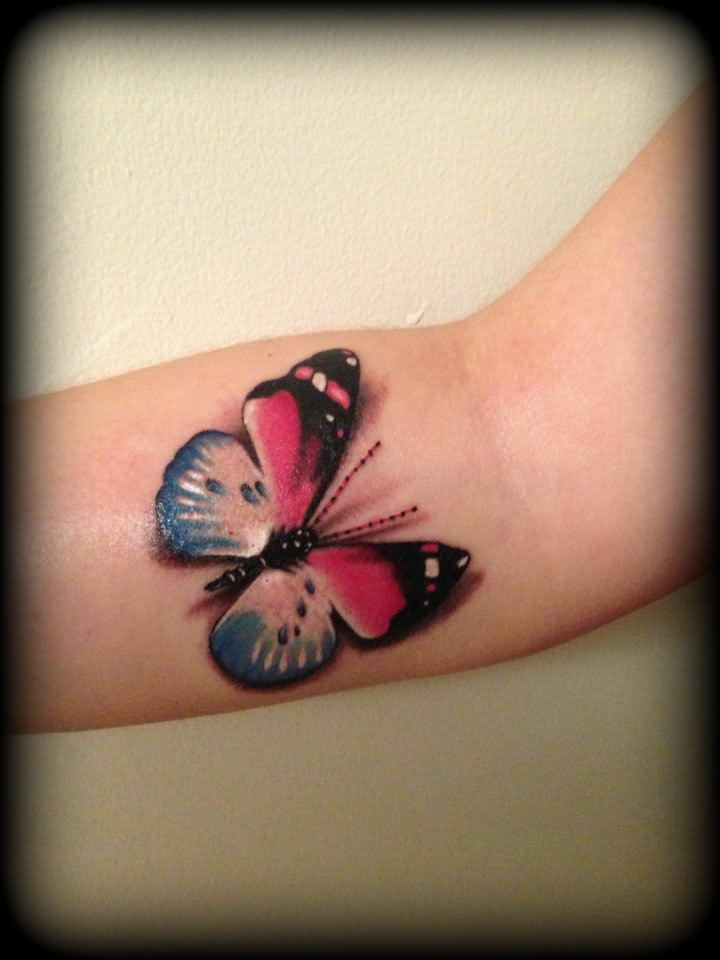colorful butterfly tattoo design. Black Bedroom Furniture Sets. Home Design Ideas