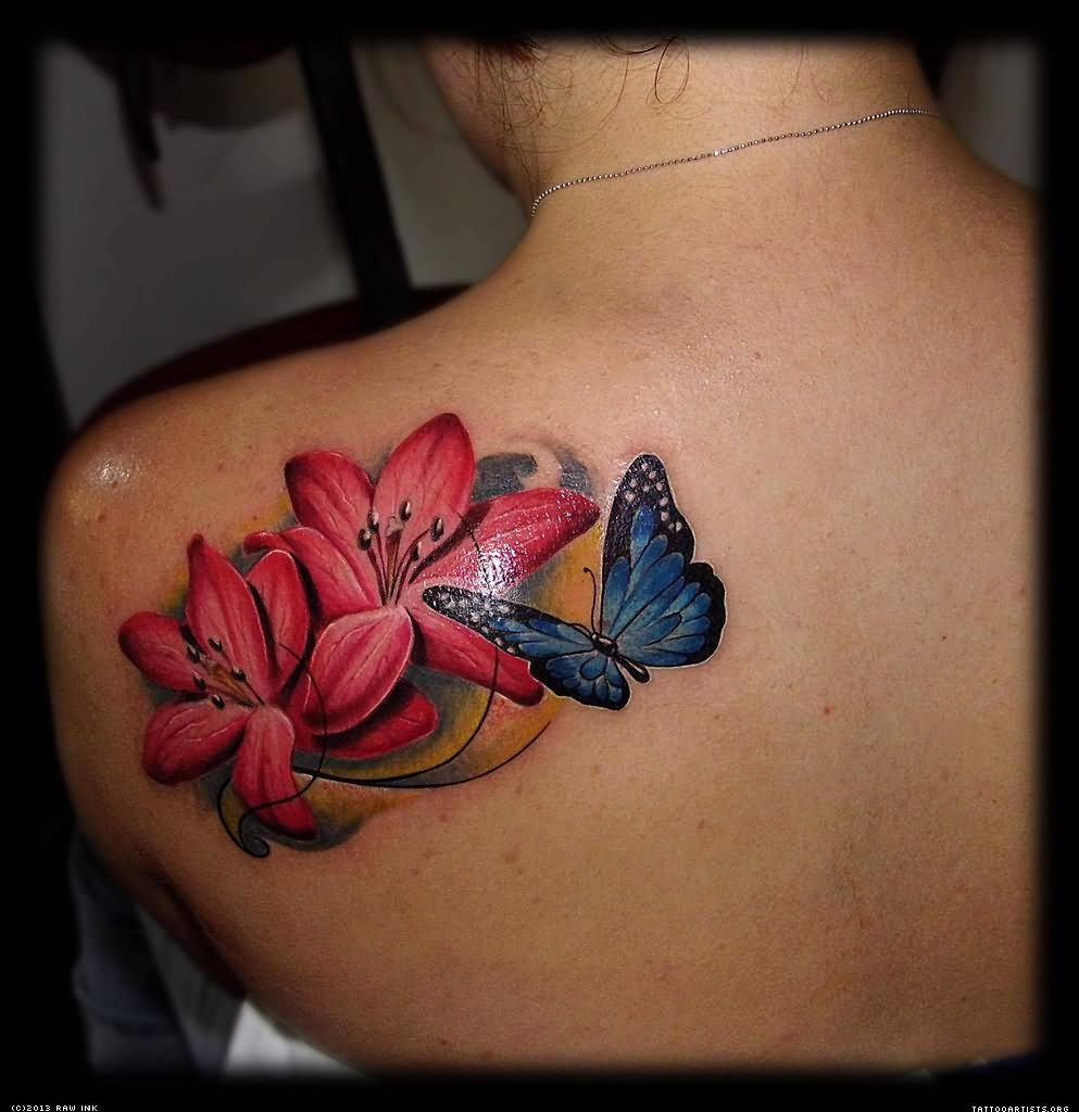 Cool lotus flower and butterfly tattoo mightylinksfo