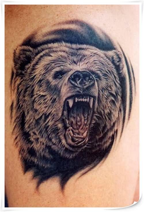 crawling bear tattoo