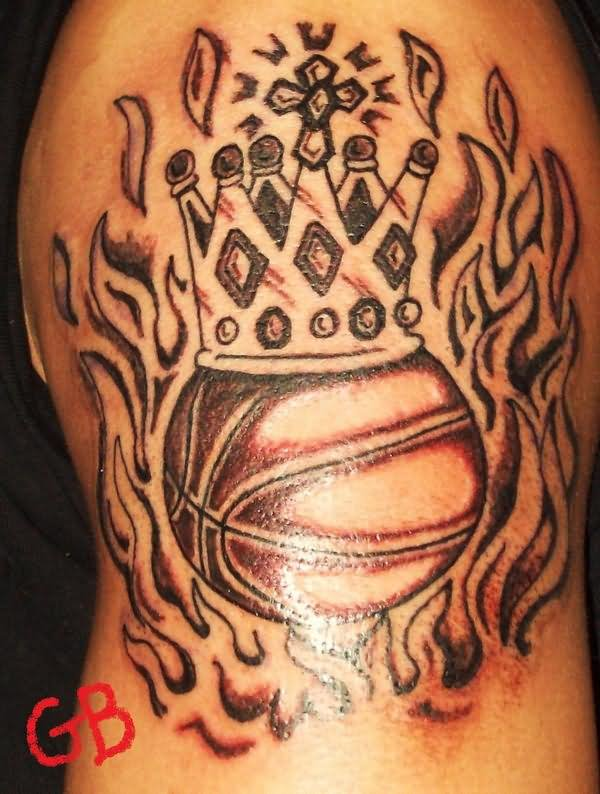 fire basketball tattoo wwwpixsharkcom images