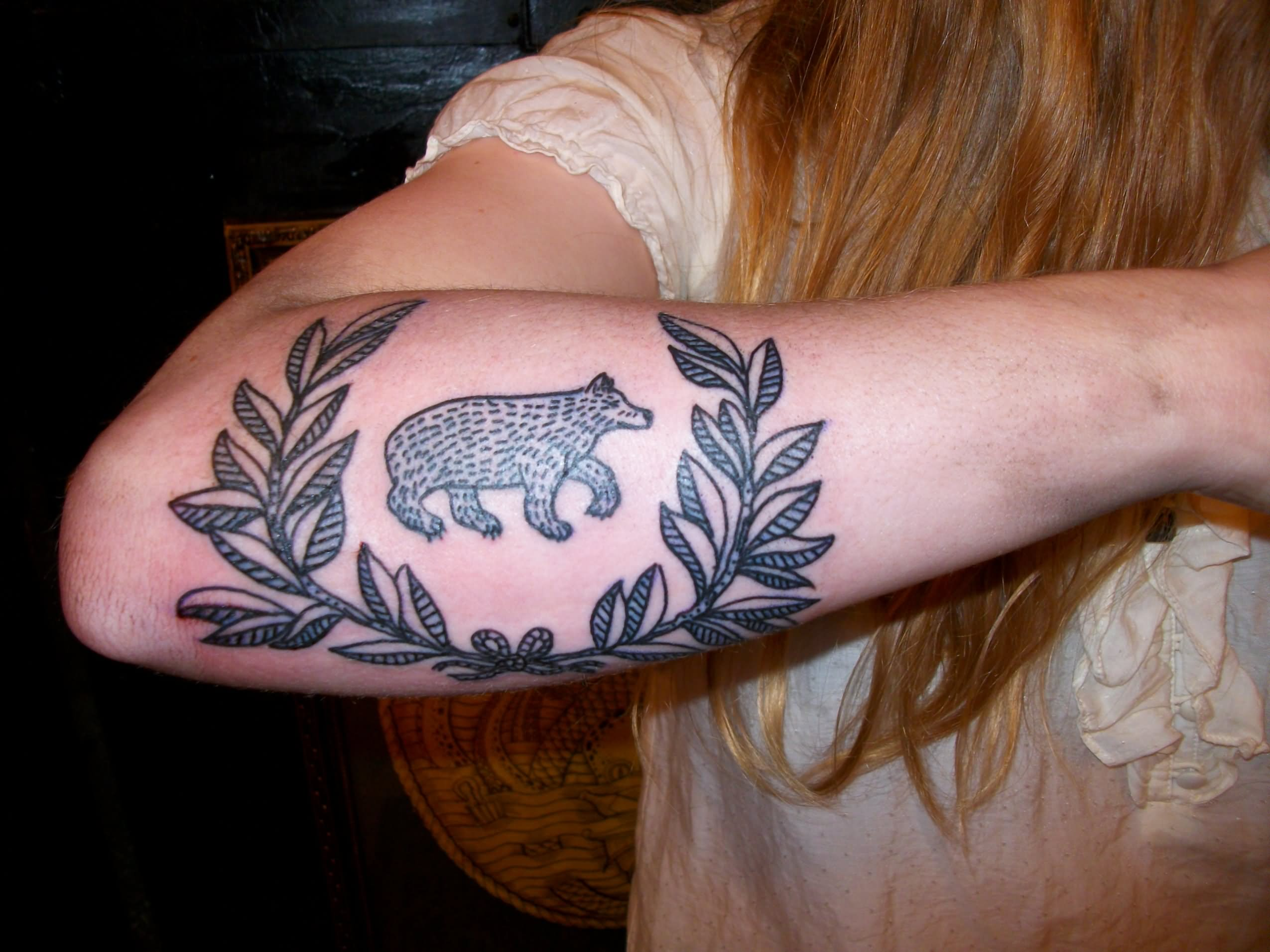 Bear tattoo images designs for Tattoos on right arm