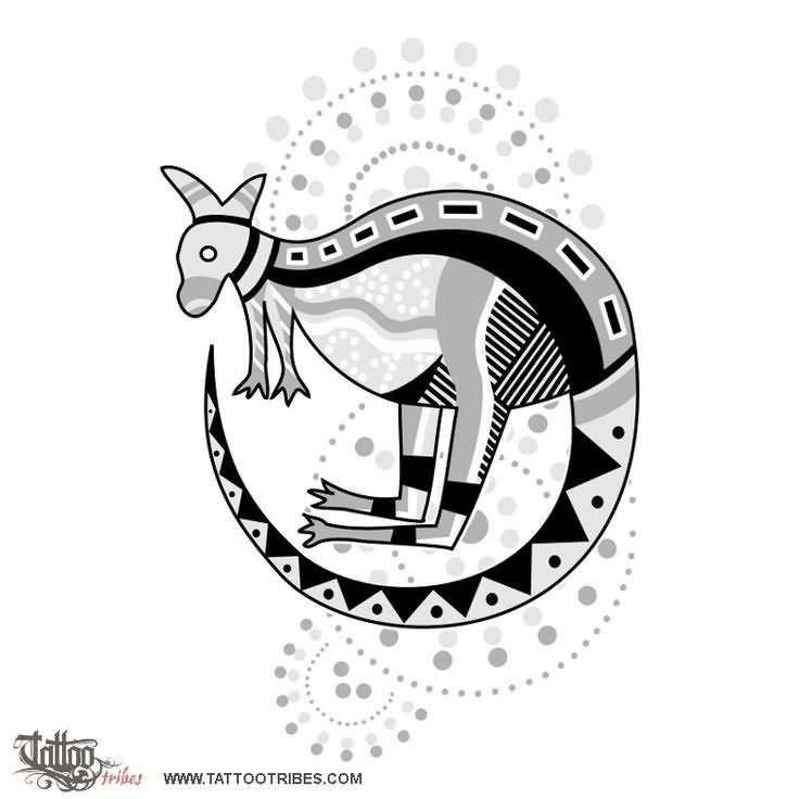 kangaroo art aboriginal tattoo design. Black Bedroom Furniture Sets. Home Design Ideas