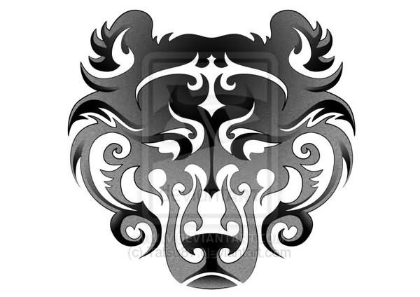Tribal bear paw and face tattoo for Tribal claw tattoo
