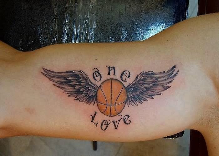 Basketball tattoo images designs for One love tattoo designs